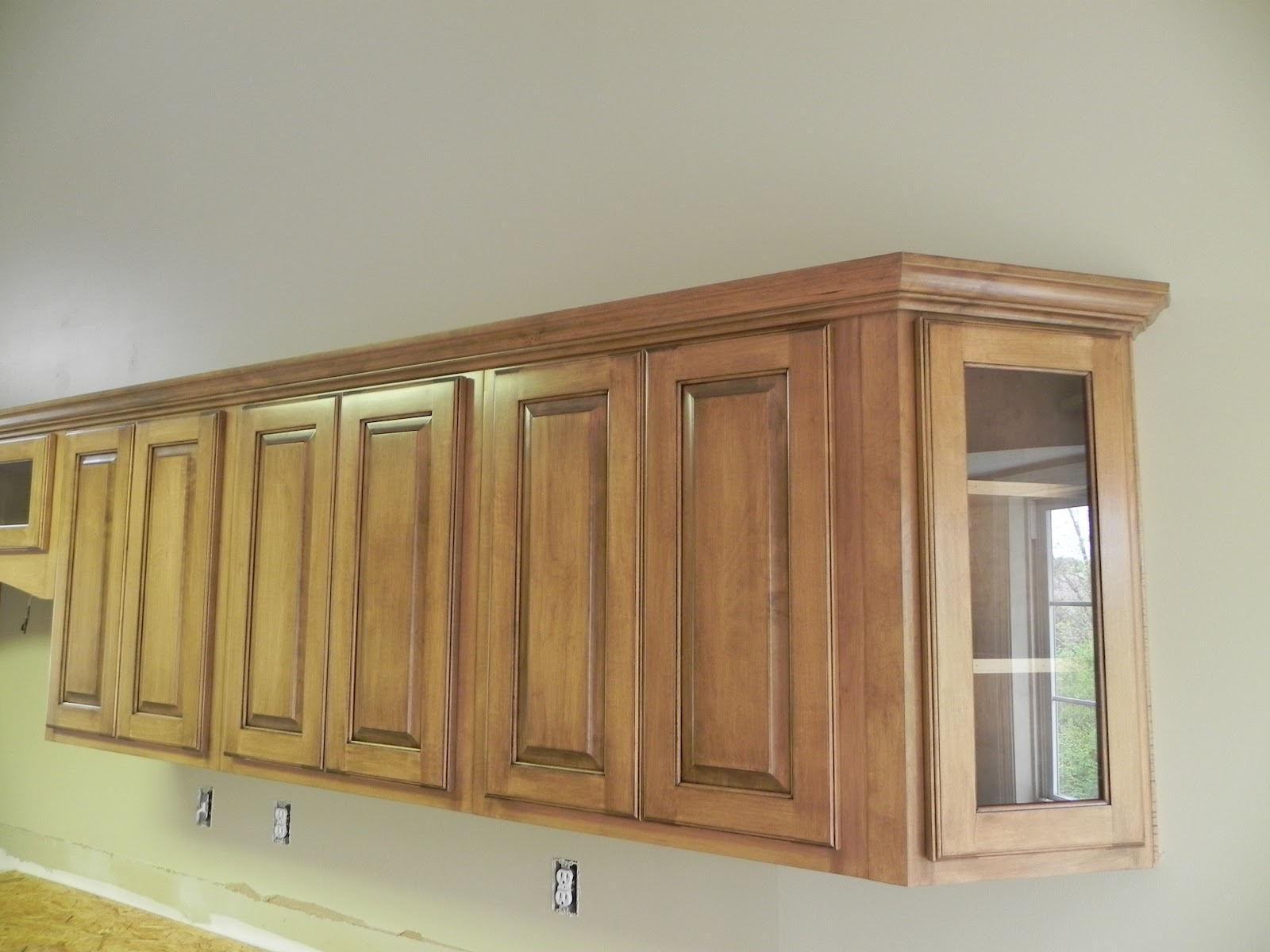 Cabinets with Glaze Finish