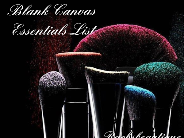 My Blank Canvas Essentials List