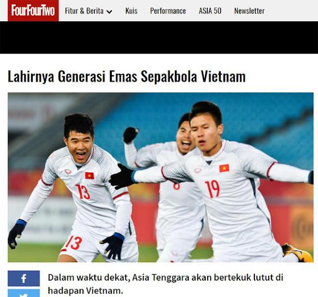 Truyền thông Indonesia lo sợ bóng đá trẻ Việt Nam sẽ thống trị Đông Nam Á