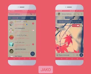 Pink Flower Theme For YOWhatsApp & Fouad WhatsApp By Jako