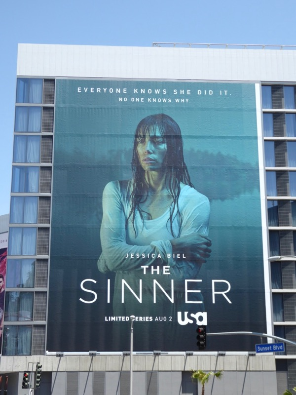 Jessica Biel Sinner series billboard