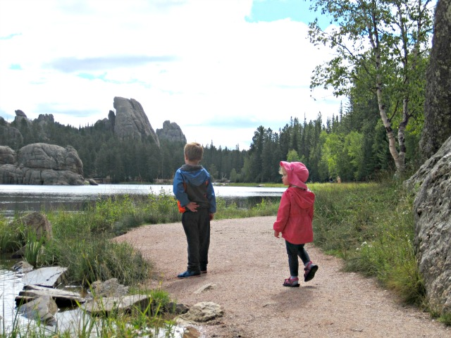 Sylvan Lake black hills south dakota lake trail hiking kids mountains