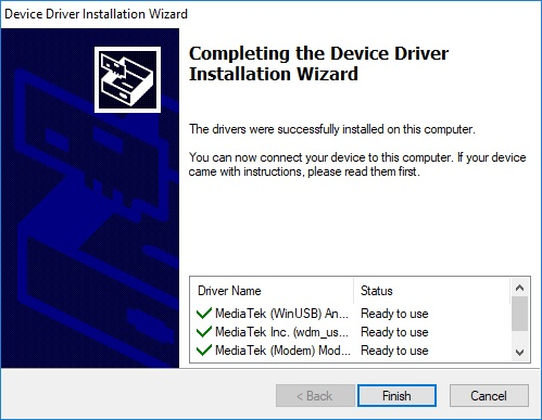 Cara install Driver Mediatek pada WIndows 10 9