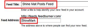 Feedburner Custom URL