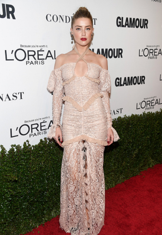 Amber Heard Wearing Kimberly McDonald to Glamour