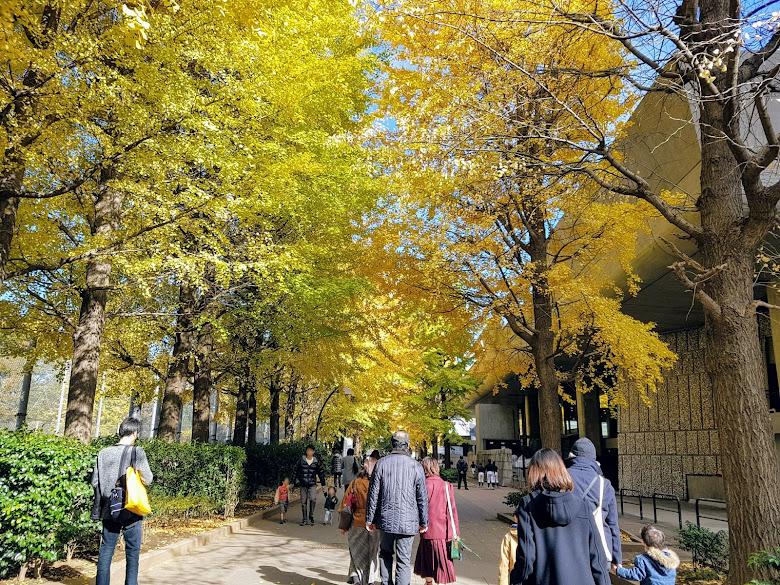 在上野公園內散步
