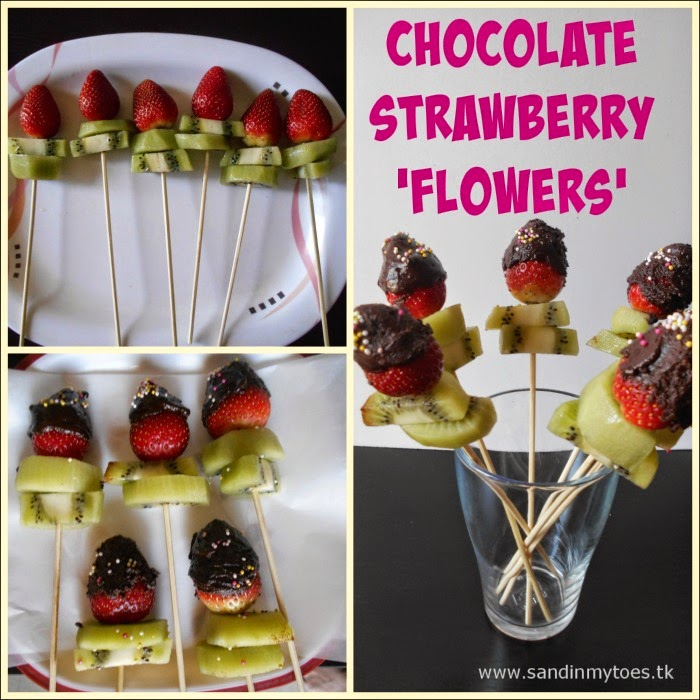 Making Chocolate Strawberry Flowers