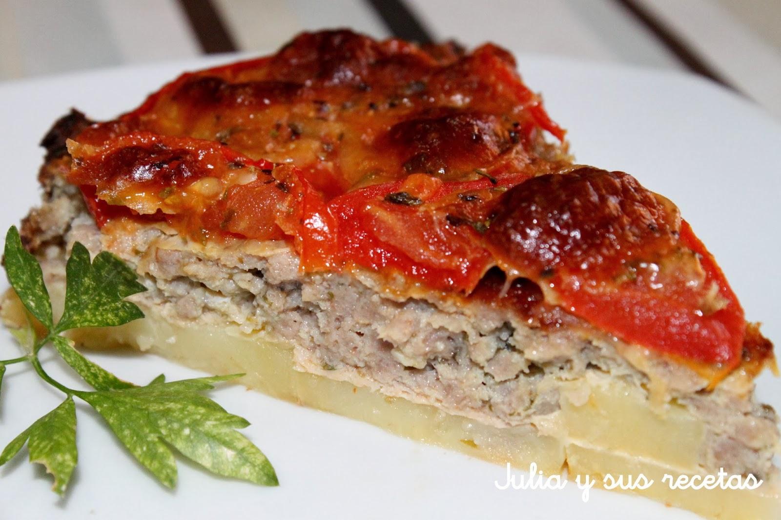 Julia y sus recetas tarta de carne picada - Que cocinar con carne picada ...