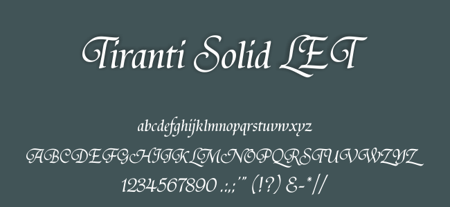 Kumpulan Font Undangan - Tiranti Solid LET Font