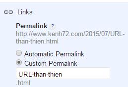 URL thân thiện