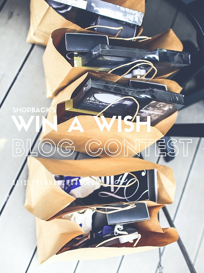 ShopBack's Win A Wish Blog Contest