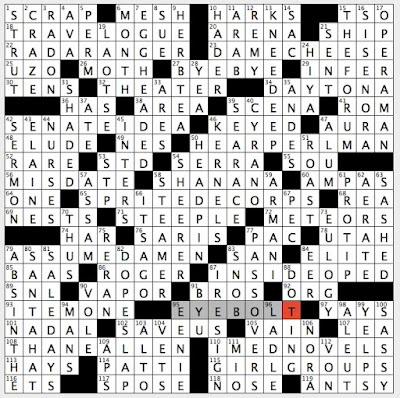 Rex Parker Does The Nyt Crossword Puzzle Green Spirit Sun 8 28 16 Taiping Rebellion General Fastener With Ring Shaped Head Mythical Father Of Harmonia Strangely Enough Hit Upside The