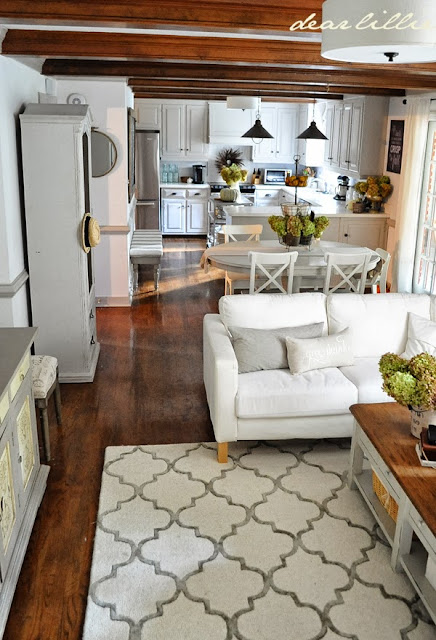 """Kitchen Family Room Designs: Dear Lillie: We Finally Have A Rug! (Our """"Finished"""" Family"""