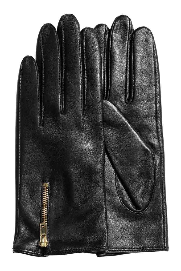 czarne rękawiczki H&M