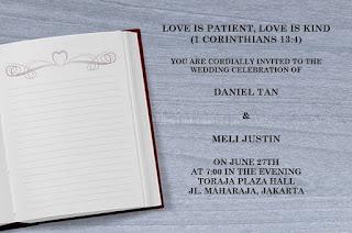 Contoh Kata-kata Undangan Pernikahan Kristen Lewat WA