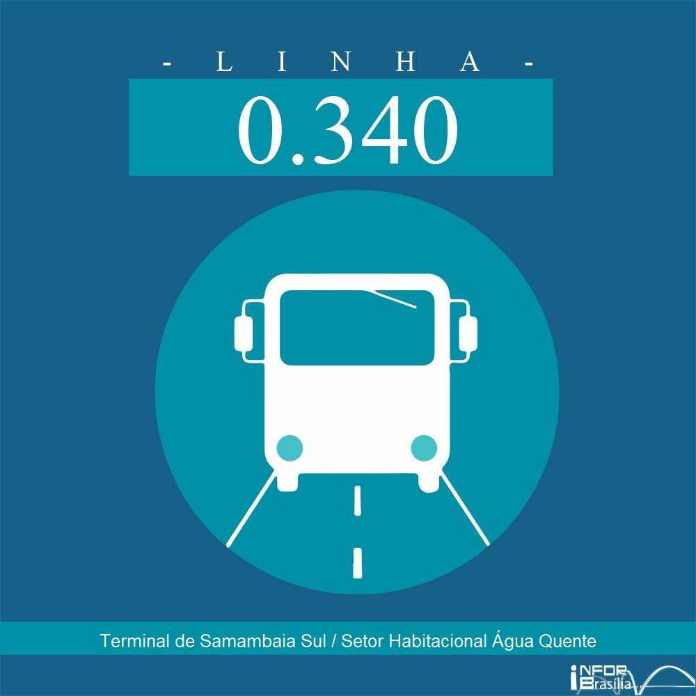 Horário e Itinerário 0.340 - Terminal de Samambaia Sul / Setor Habitacional Água Quente