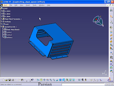 Product Design Engineering: CATIA (Drawing for sheet metal