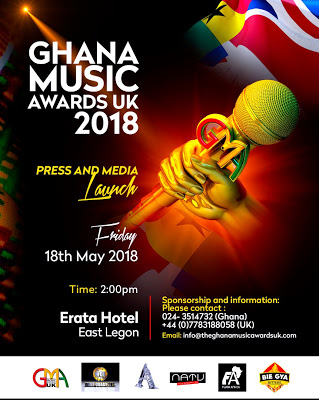 Change Of Venue: Ghana Music Awards UK Still Launches In Ghana On May 18th At Erata Hotel
