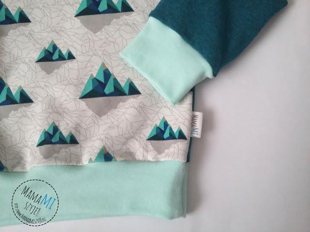 bluza chłopięca, unisex, idealna kompozycja, mamamiszyje, bluza ze ściągaczami, prosta bluza do uszycia