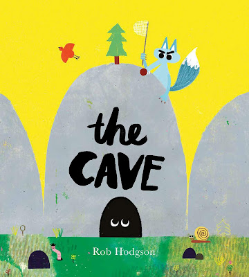 The Cave - A hungry wolf stands guard by a cave trying to lure a little creature out. Day after day the wolf attempts to persuade the little creature to leave, but the little creature stays put. In a twist that adults may see coming (but the kids who I read it to didn't), the wolf is finally successful, much to his surprise.  #picturebook #childrenslit #childrensfiction #thecave