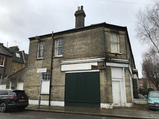 Boarded-up shop, Turneville Road, London W14