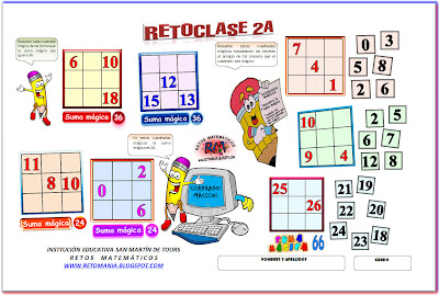 Retos Matemáticos, Retos matematicos, desafíos matemáticos, problemas matemáticos, cuadrados mágicos, cuadrados mágicos con solución
