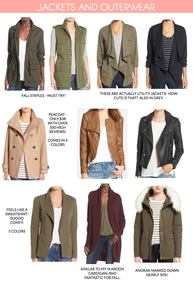 nordstrom anniversary sale 2016 jackets