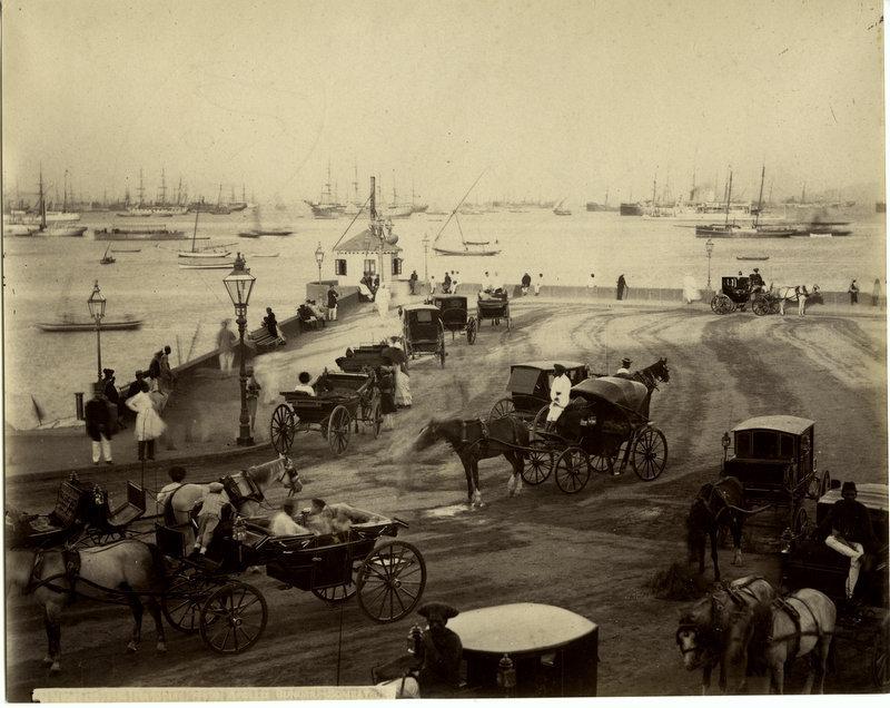 Bombay (Mumbai) Harbour Scene - Vintage Photograph c1880's