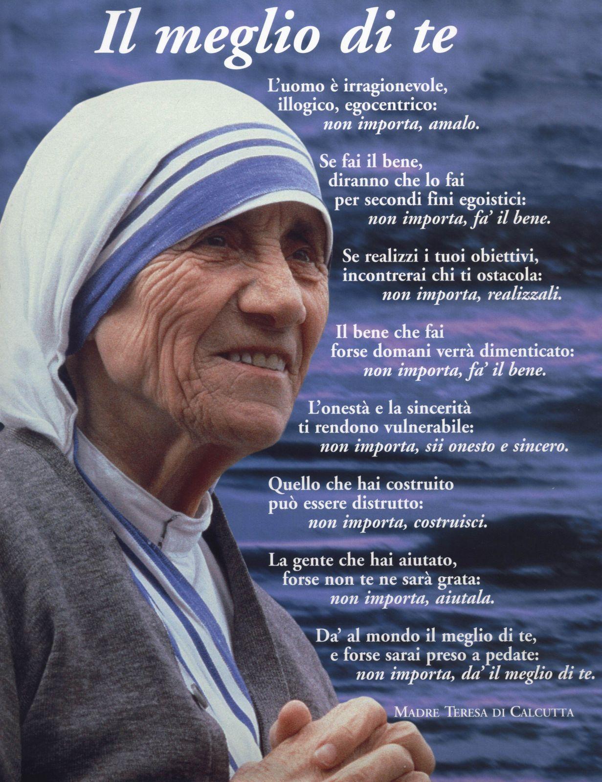 Frasi Sui Bambini Di Madre Teresa