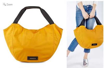 bolso cabas amarillo de Mandarina Duck