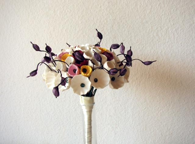 eco bouquet di fiori di carta per matrimonio Green  nelle Langhe