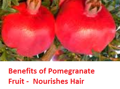 Health Benefits of Pomegranate Fruit (anar fruit) juice -Benefits of Pomegranate Fruit -  Nourishes Hair