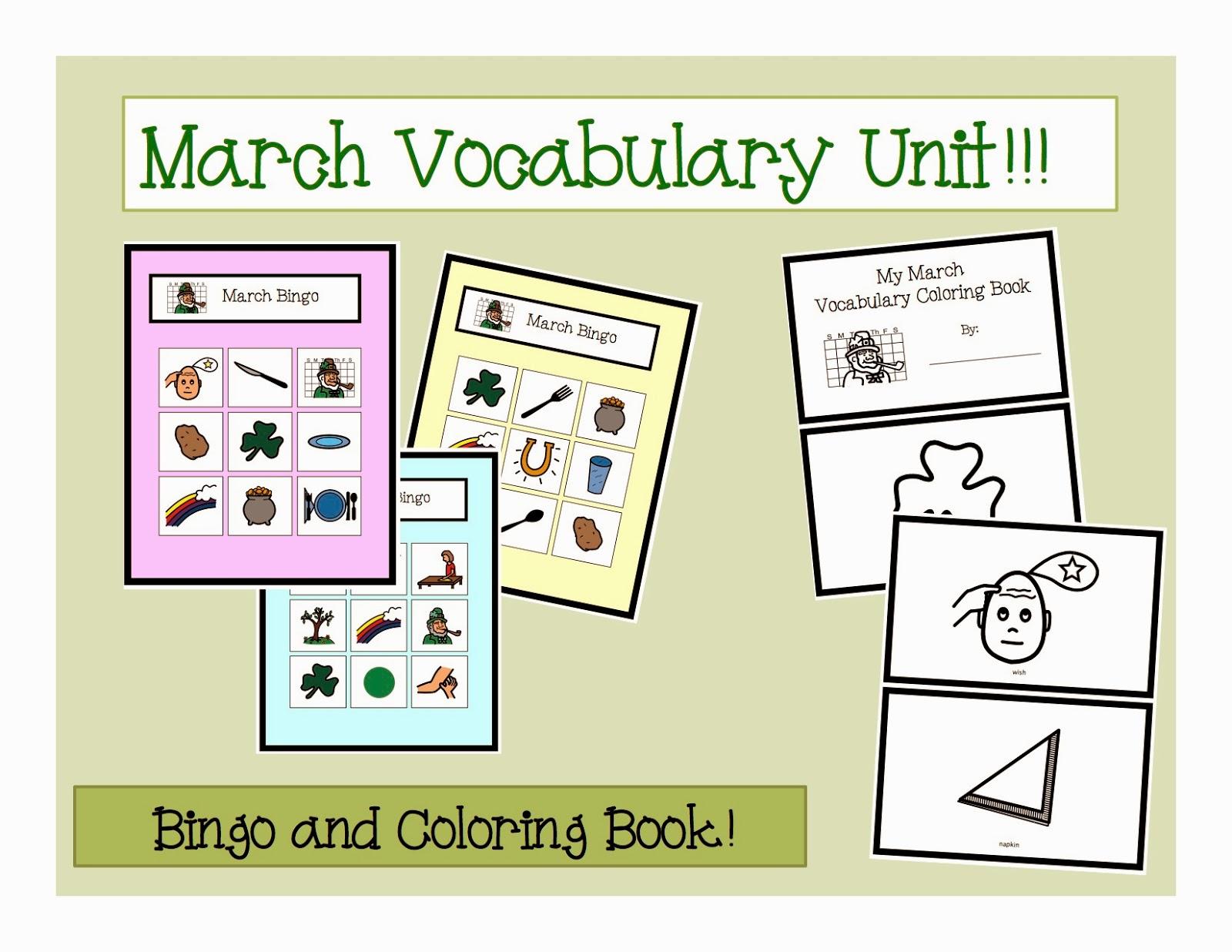 March Vocabulary Unit