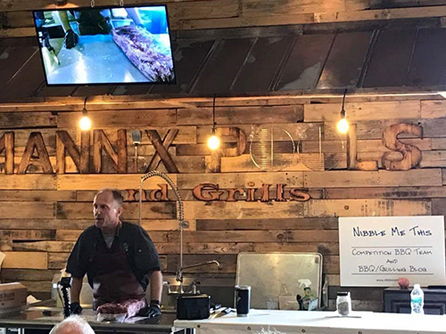 Chris Grove, BBQ Author and Grilling Expert, teaching a grilling class in Florida
