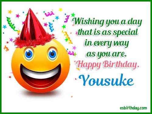 Yousuke Happy birthday