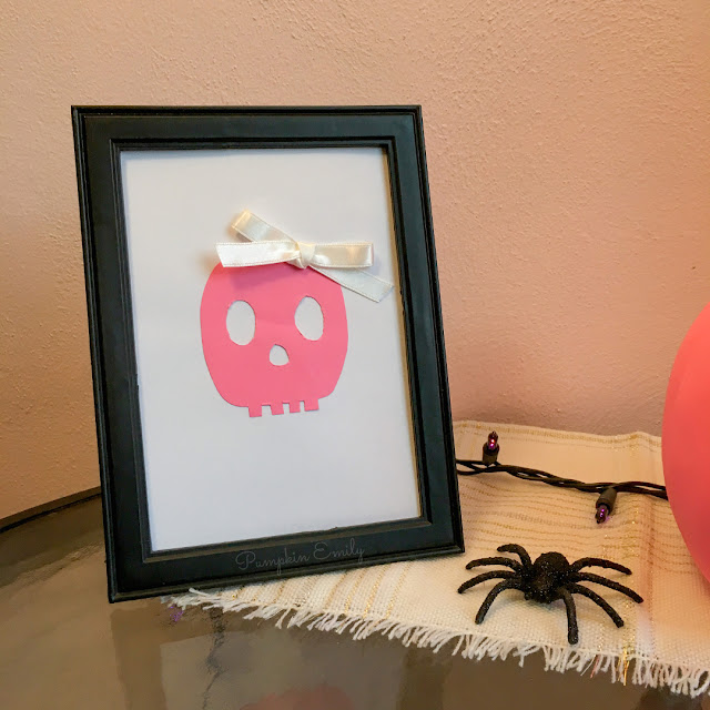 Pink DIY Halloween Frame Art