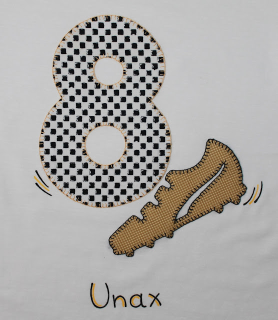 camiseta cumpleaños 8 años futbol