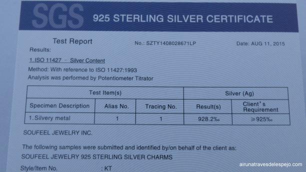 certificado plata 925