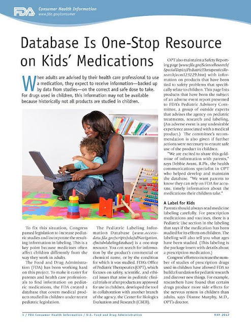 Database Is One-Stop Resource on Kids' Medications