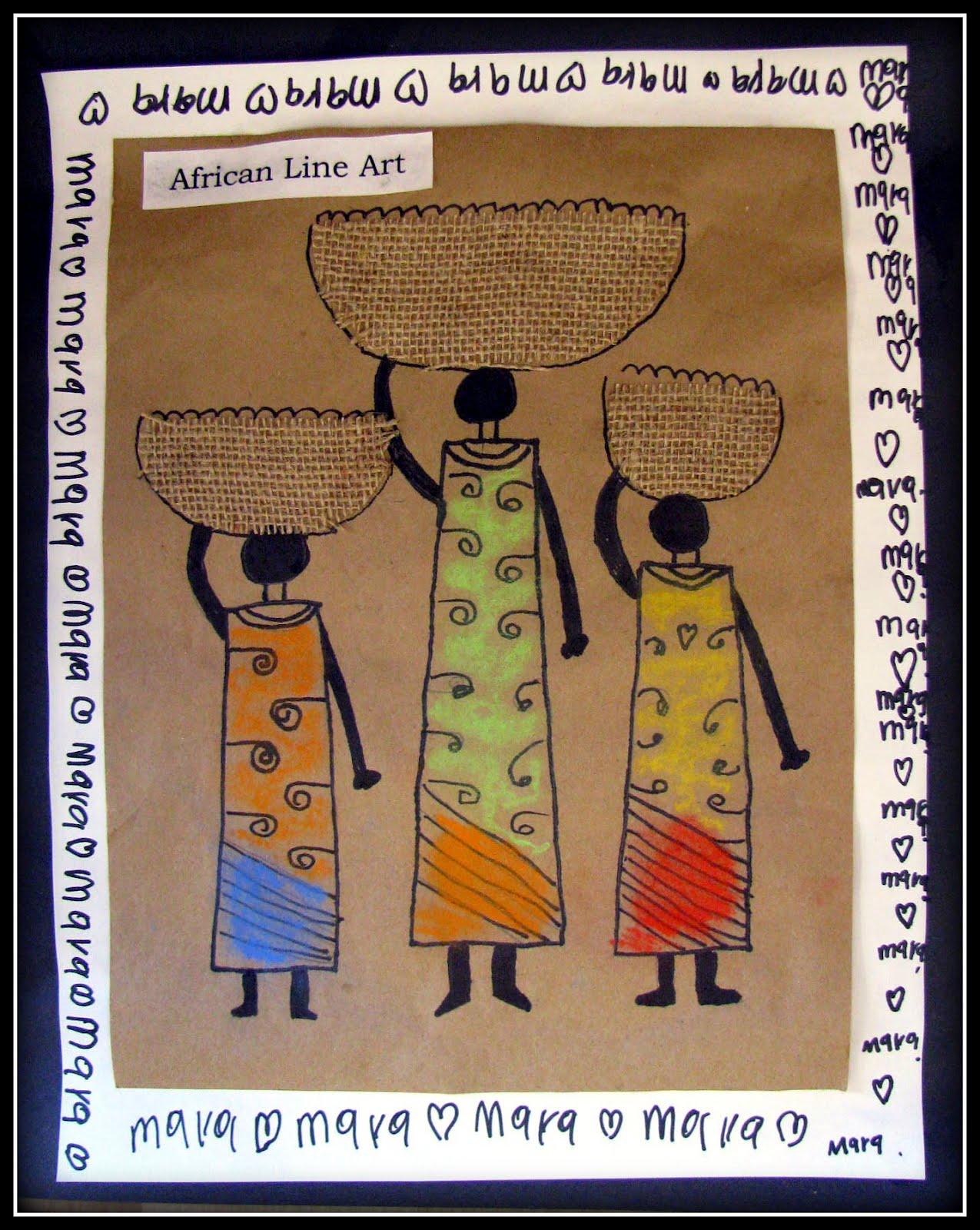 Plateau Art Studio African Line Art