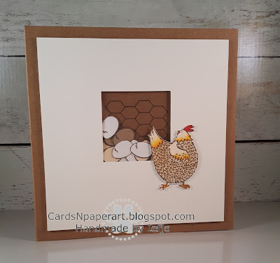 shaker card Stampin' Up Hey chick