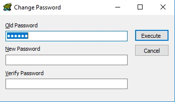 Change Oracle user password using Toad