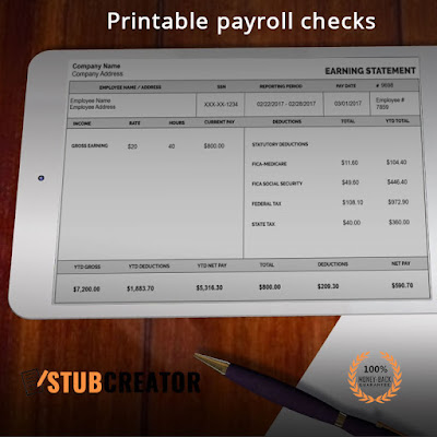 Free Pay stub maker online USA,UK - free paystub online