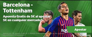 betway promocion Barcelona vs Tottenham 11 diciembre