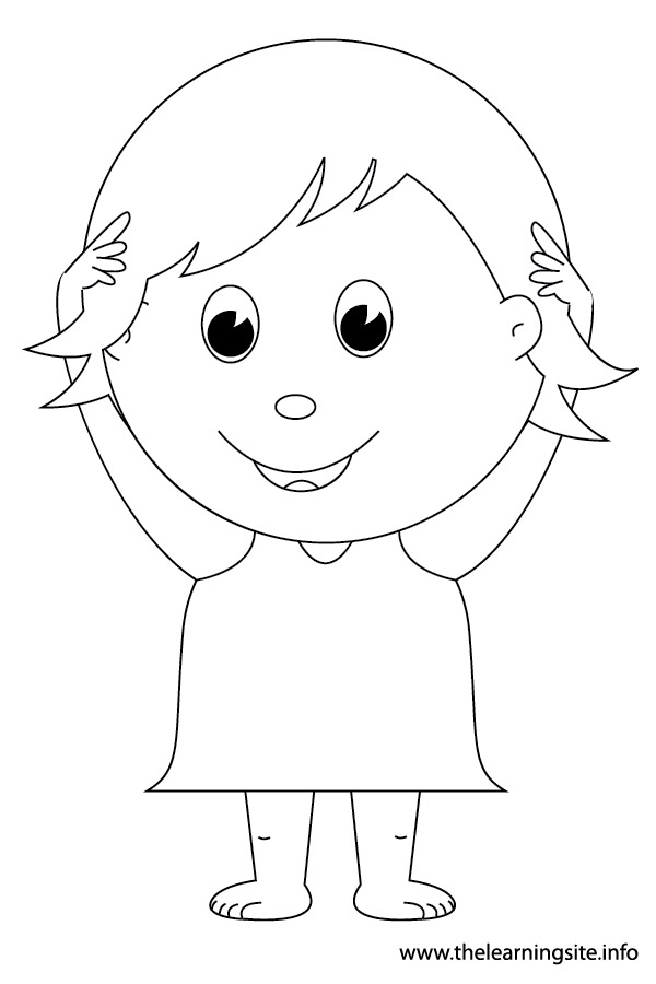 Free coloring pages of from head to toe