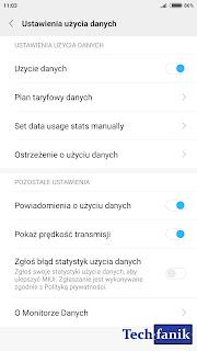 miui 9 ustawienia użycia danych