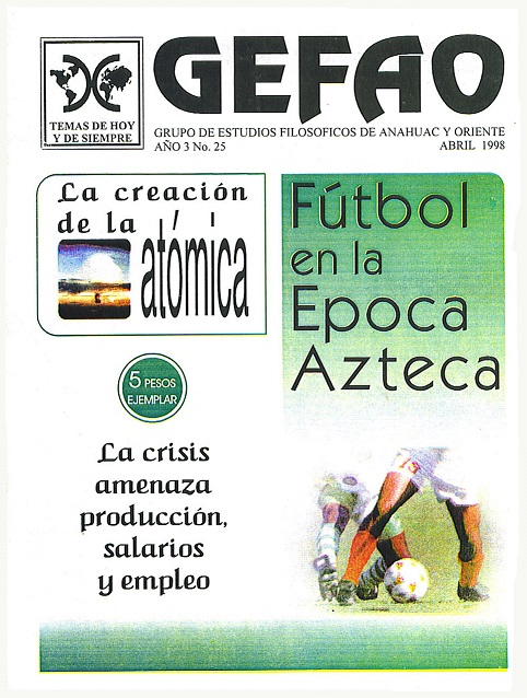 Futbal en la epoca Azteca Revista GEFAO