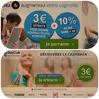 eBuyClub : achat international en ligne, gagner 4 € à l'inscription et sur tout achat effectué