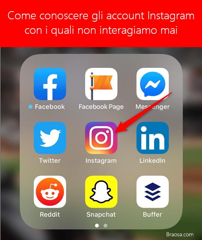 Come vedere con quali account Instagram non interagisci mai
