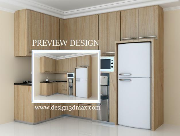 Jasa desain 3d max murah for Biaya kitchen set